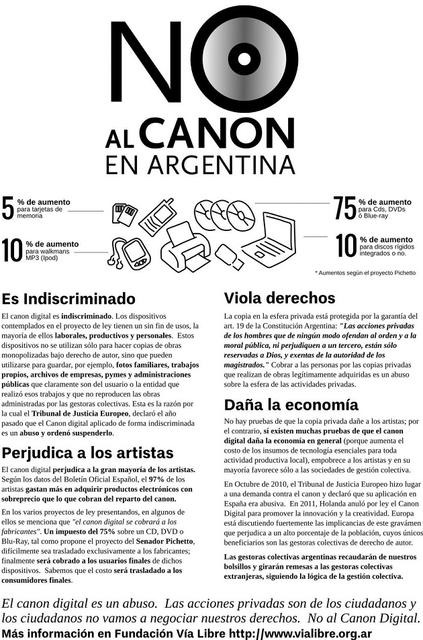 No Al Canon en Argentina #noalcanon