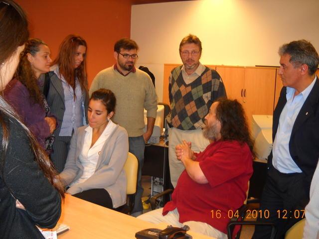Richard Stallman en el CMD Centro