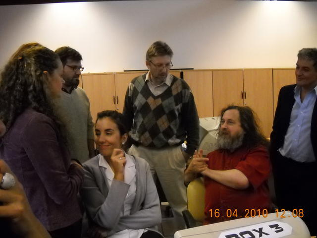 Richard Stallman en el CMD Centro II