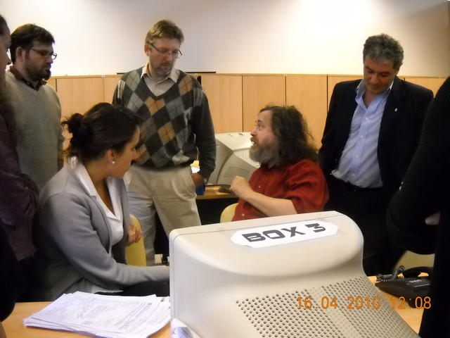 Richard Stallman en el CMD Centro III