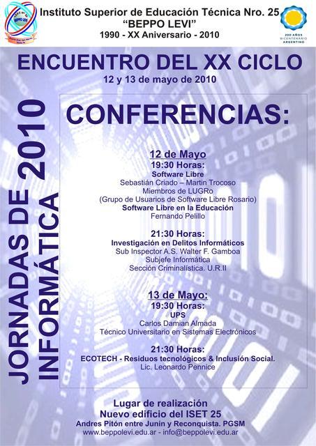 Jornadas de Informática 2010